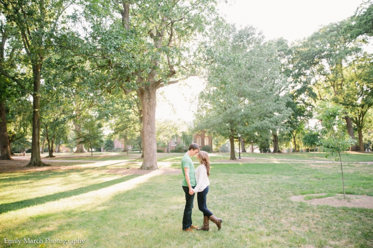 chapel hill engagement session