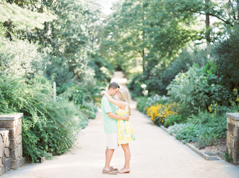 duke gardens engagement session